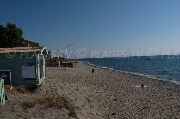 Sand beach in Moriani - Corsica