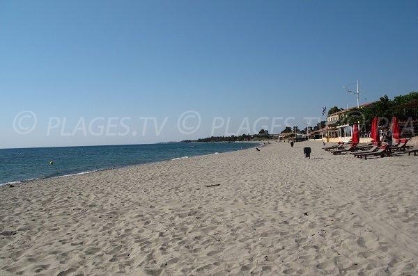Moriani beach in Corsica