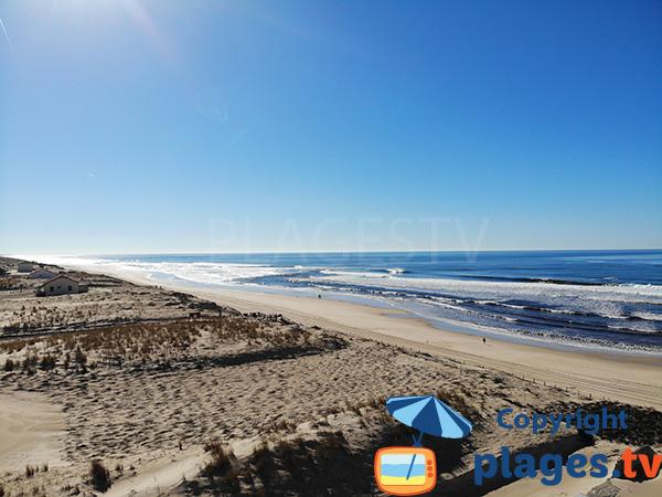 Photo de la plage des Mouettes à Mimizan