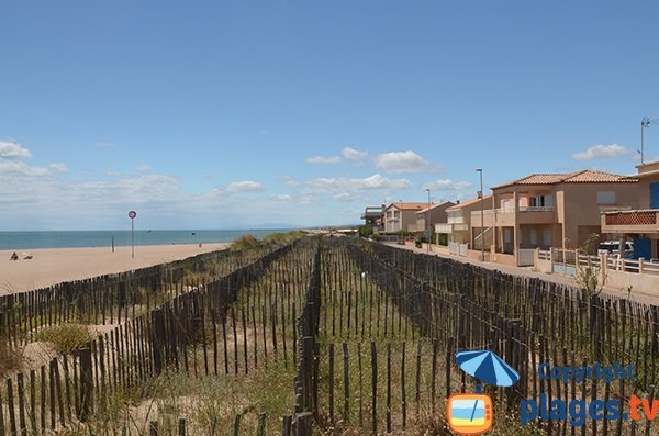Dune della spiaggia Mouettes a Vendres