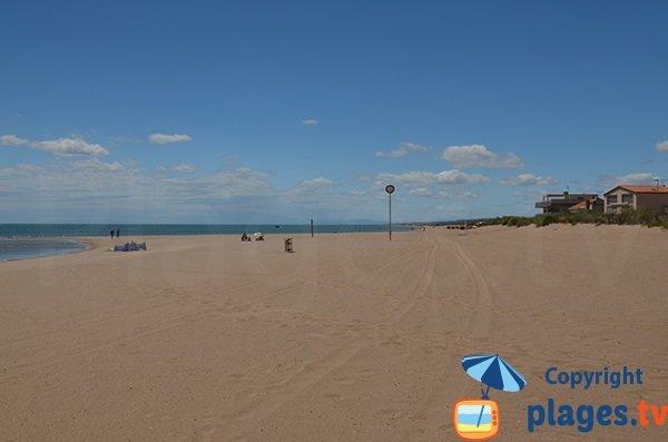 Spiaggia Mouettes a Valras - selvaggia