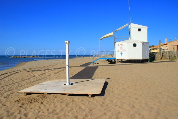 Lifeguard station of Mouettes beach - Valras