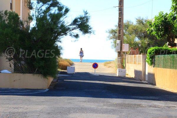 Accesso alla spiaggia di Les Mouettes - Rue de Provence