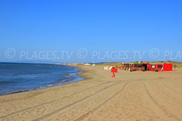 Spiaggia di Les Mouettes de Valras in direzione di Vendres