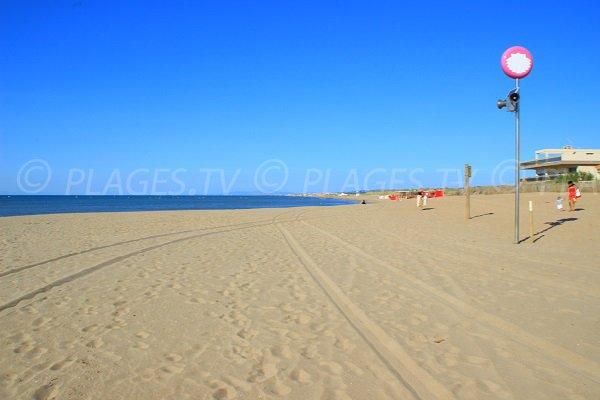 Ambiente di spiaggia a sud di Valras