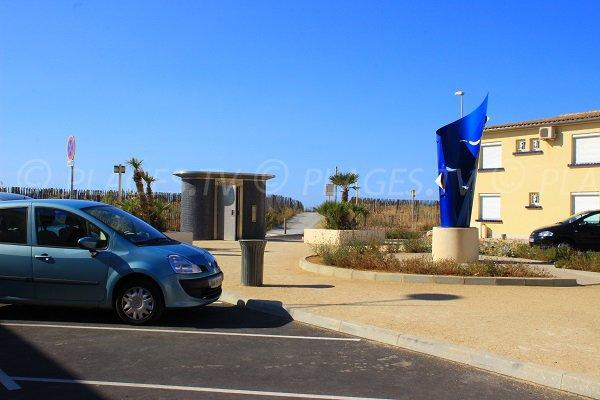 Parcheggio della spiaggia Ovest di Valras - strada champagne