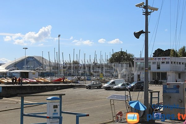 Océanopolis à côté de la plage de Brest