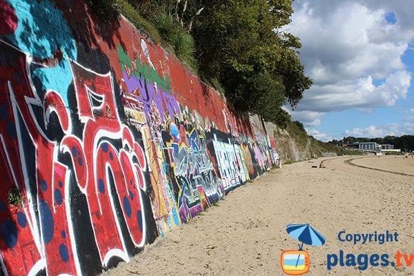 Mur de protection de la plage du Moulin Blanc - Brest