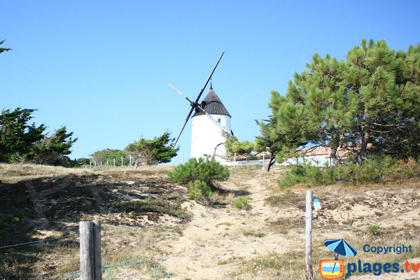 Moulin de la Bosse in Noirmoutier in France ( Mill hump)