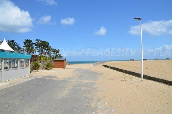 Accès à la plage du Moulin à Etables sur Mer en Bretagne