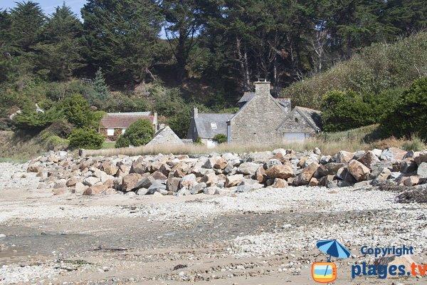 Environnement de la plage du Moulin de la Rive - Locquirec
