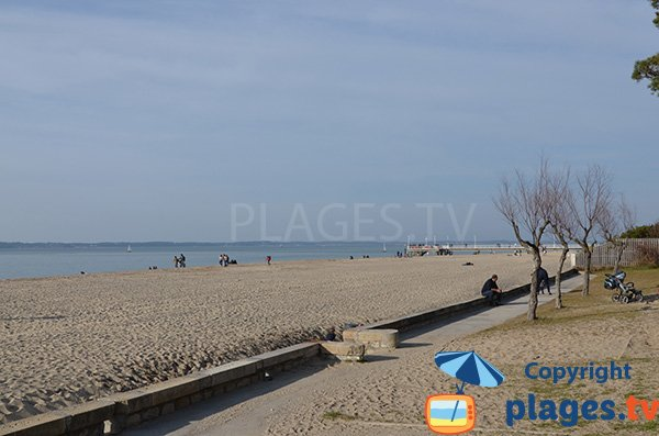 Moulleau beach in Arcachon in France