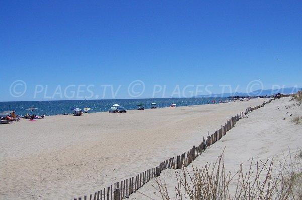 Photo de la plage du Mouret à Leucate
