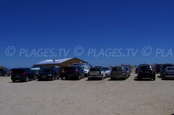 Carpark of Mouret beach - Leucate