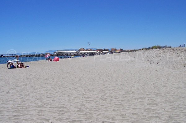 Mouret beach in Leucate - France