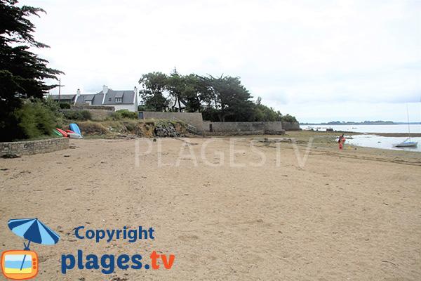 Zone protégée du vent sur la plage de Mousterian - Séné