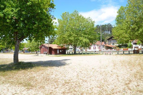 Poste de secours de la plage du Moutchic à Lacanau