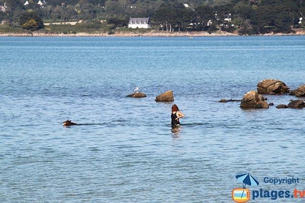 Baignade sur la plage du Mouton