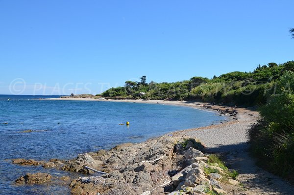 Photo of the Moutte beach in Saint Tropez - France