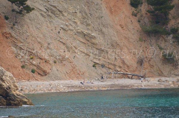 Plage de la Moutte à proximité de la calanque du Port d'Alon à St Cyr