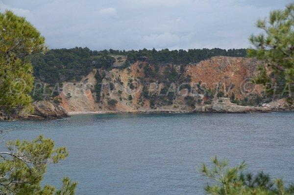 Moutte beach in St Cyr sur Mer in France