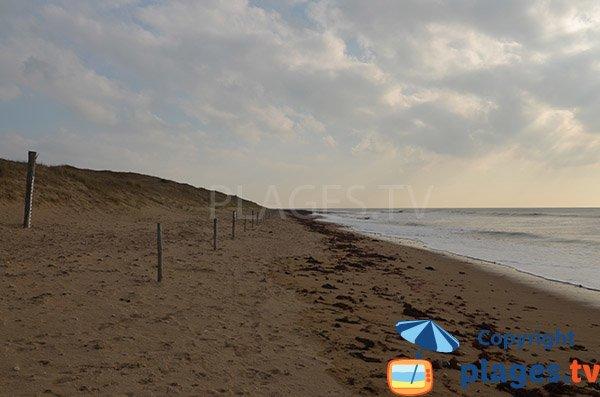 Spiaggia Murier verso la spiaggia di Villeneuve - Notre Dame de Monts