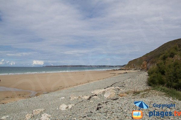Accès à la plage naturiste de Nantois - Pléneuf Val André