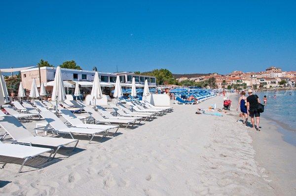 Restaurant on the Napoléon beach in Ile Rousse - Corsica