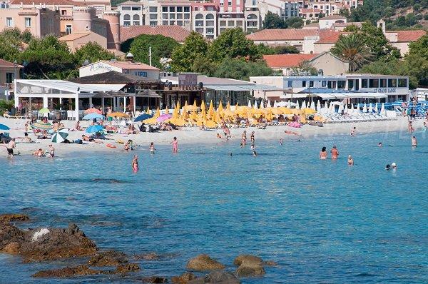 Restaurants et plages privées - Plage Napoléon - Ile Rousse