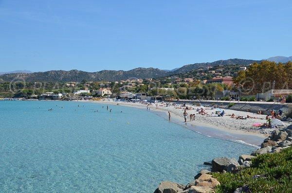 Photo of Napoleon beach in Ile Rousse in Corsica