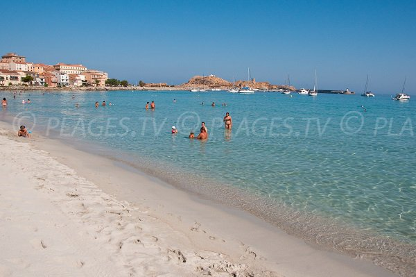 Central beach in Ile Rousse - Corsica