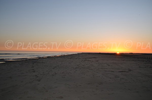 Sunset on the Napoleon beach in Camargue