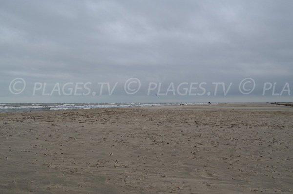 Grande plage de sable sauvage à Port Saint Louis en Camargue