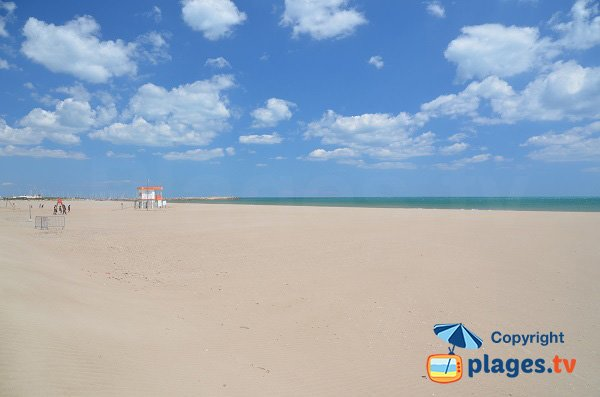 Port beach in Narbonne-Plage in France