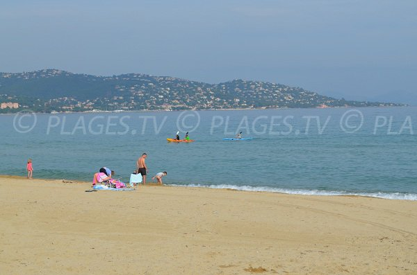 Nartelle beach in gulf of St Tropez