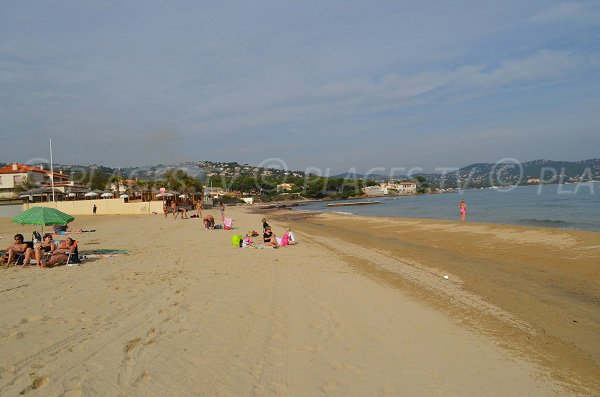 Nartelle beach in Sainte Maxime - France