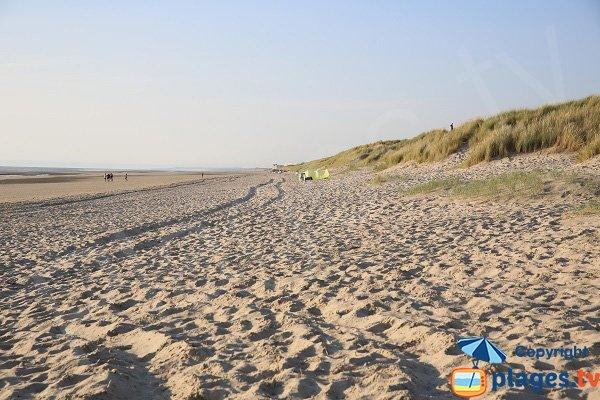 Naturist beach in Berck in France