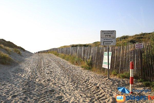 Access to the naturist beach of Berck