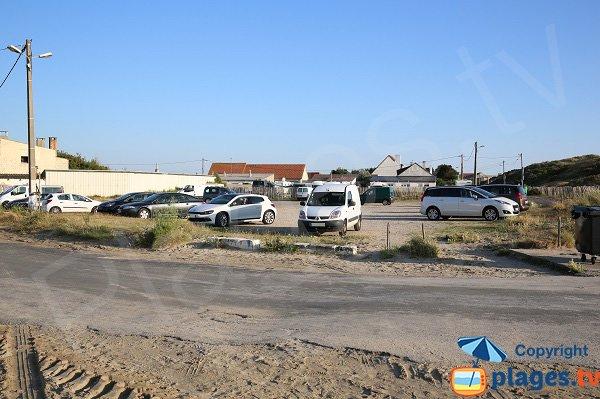 Parking of naturist beach in Berck