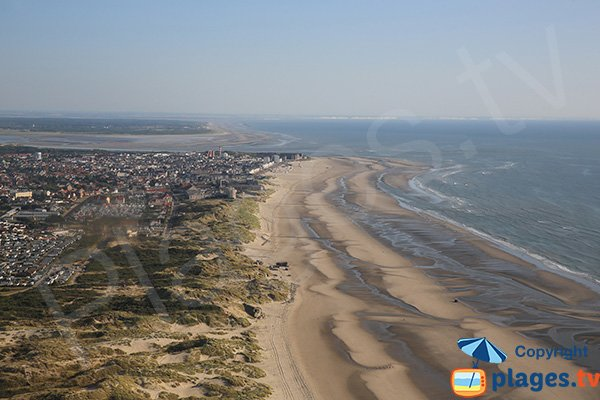 Photo of nudist beach in Berck - aerial view
