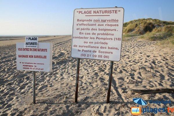 Naturist beach in Berck
