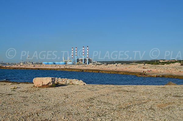 Power plan and nudist beach in Martigues