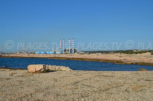 Voisinage de la plage naturiste de Martigues