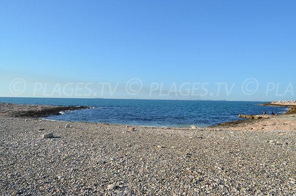 Plage naturiste de Bonnieu à Martigues