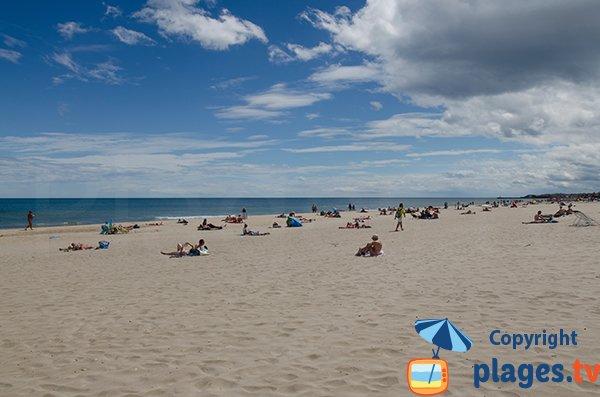 Photo de la plage naturiste du Cap d'Agde