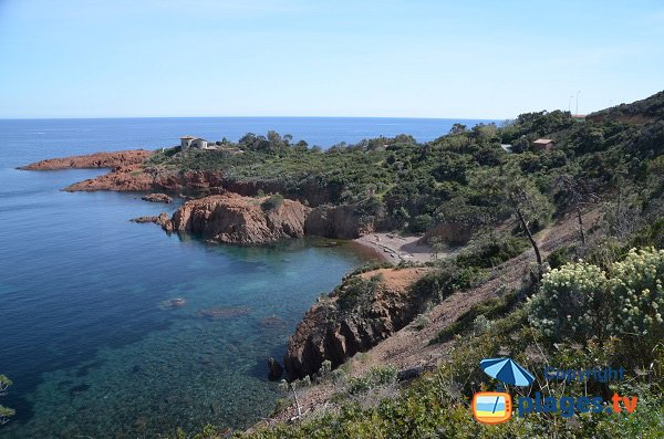 Nudist beach in Agay - Esterel