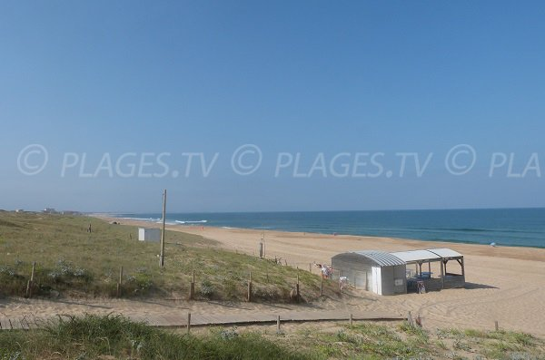 Nudist beach and view on Hossegor - France