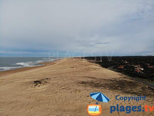 Photo de la plage naturiste d'Hossegor à proximité de Seignosse