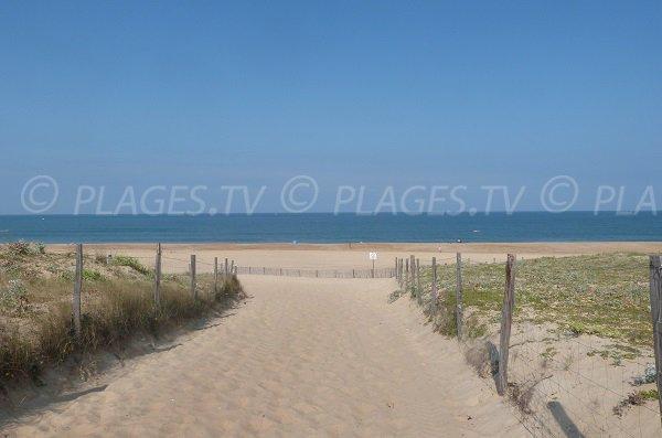 Arrivée sur la plage nord d'Hossegor