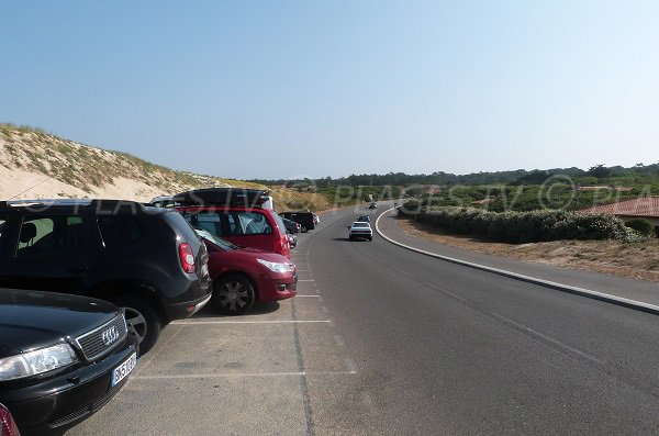 Parking of naturist beach in Hossegor